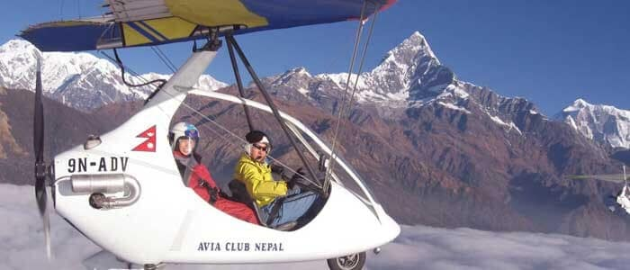 Nepal Ultralight Aircraft Tour