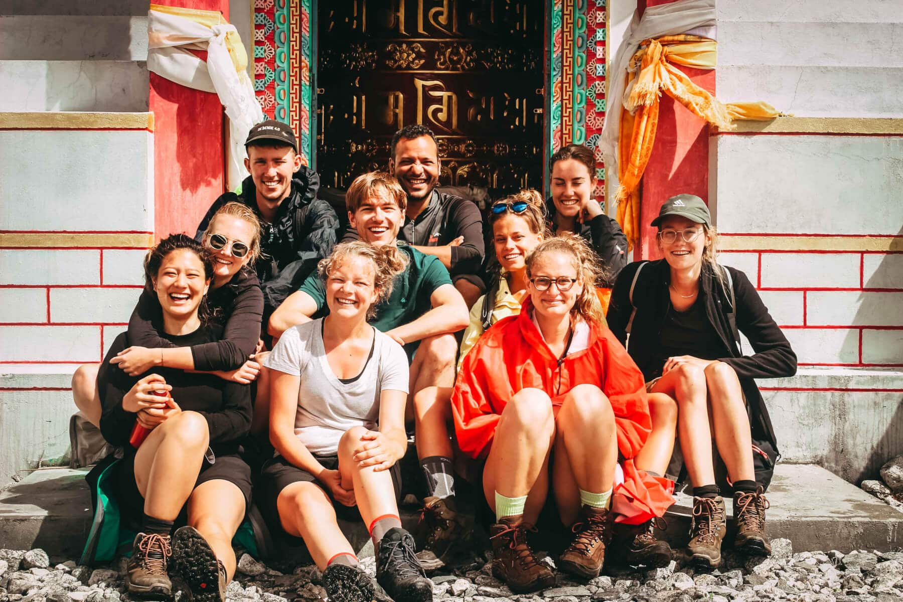 Group photograph with trekkers